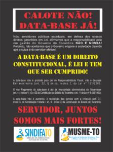 Panfleto Calote Não Data base já